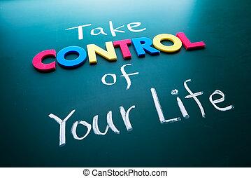 Toma el control de tu concepto de vida