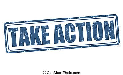 Toma un sello de acción