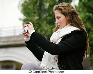 Tomando fotos con el teléfono inteligente