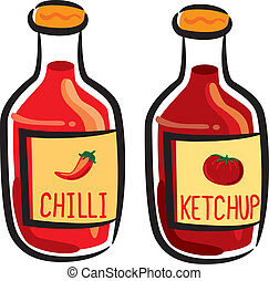 tomate, chile, salsa