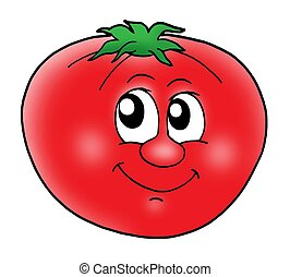 tomate, sonriente