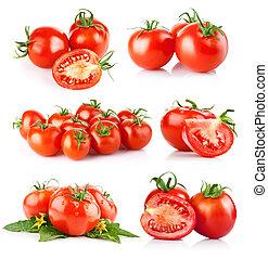 tomate, verduras frescas, conjunto