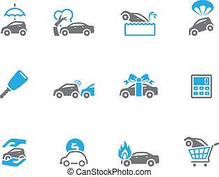 tono, dúo, automóvil, iconos, -, seguro
