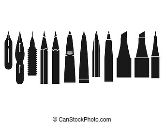 tools., caligraphy