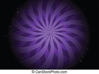 Tormenta redonda púrpura