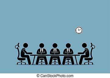 Tormentas y discusiones entre los hombres de negocios.