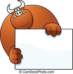 toro, caricatura, paliza