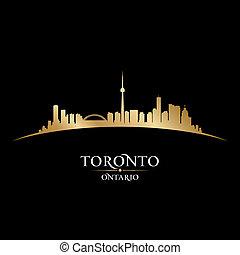 toronto, canadá, ontario, ciudad, ilustración, silhouette., contorno, vector