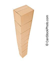 Torre de cajas de cartón