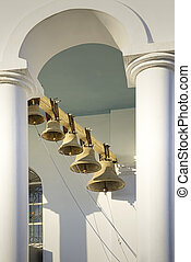 Torre de campana de la iglesia ortodoxa.