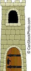 Torre de cartón