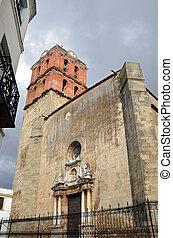 Torre de la iglesia de la candelaria