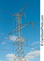 Torre de transmisión eléctrica (Electricidad pilon)