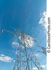 Torre de transmisión eléctrica.
