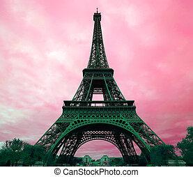 Torre Eiffel en París, Francia.