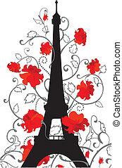 Torre Eiffel vector silueta