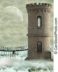 Torre en el océano