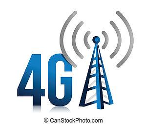 torre, velocidad, conexión, 4g