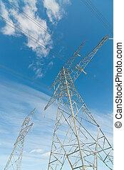 Torres de transmisión eléctrica (Pilones de electroshock)