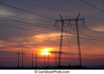 Torres de transmisión o torres eléctricas
