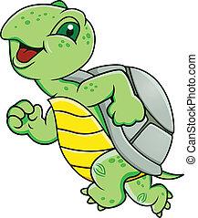 tortuga, corriente