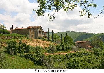 toscano, italia, colinas