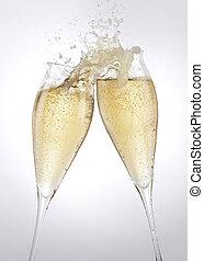 tostada, champaña