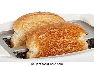 tostada, tostadora, primer plano