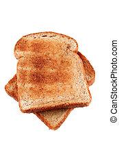 tostada, untado con mantequilla, marrón, dorado