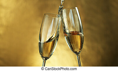 tostadas de champán, vino
