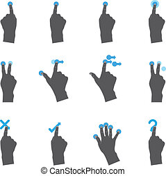 touchpad, iconos, duotone, -, más