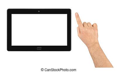 touchpad, pc, mano