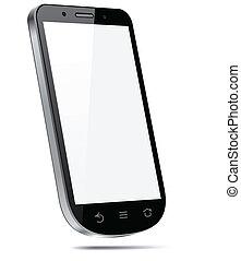 touchscreen, smartphone, concept., 3d