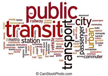 tránsito, palabra, público, nube