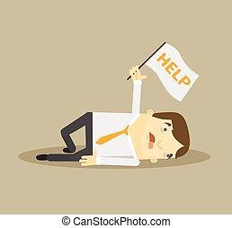Trabajador cansado