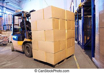 Trabajador de cargadores de almacenes
