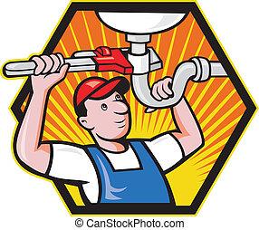Trabajador de ciruelas con llave ajustable