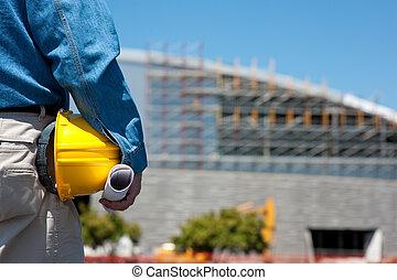 Trabajador de construcción o capataz en construcción