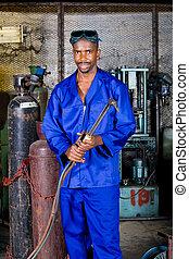 Trabajador de fábricas africanos