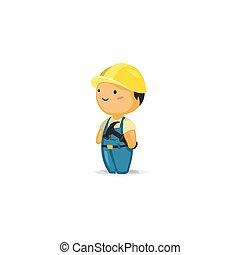 Trabajador de mantenimiento con un martillo