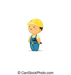 Trabajador de mantenimiento con una llave inglesa