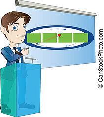 Trabajador de oficinas para uso en presentaciones