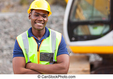 Trabajador industrial afroamericano