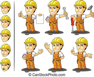 trabajador, masc, industrial, construcción