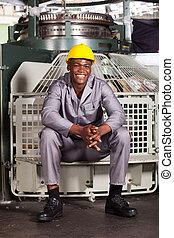 Trabajador textil afroamericano