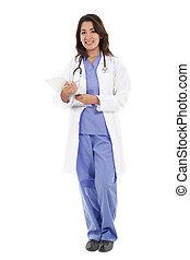 Trabajadora de salud femenina