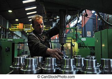 Trabajadores de industrias de la fábrica