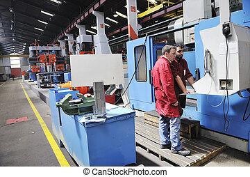 Trabajadores en la fábrica
