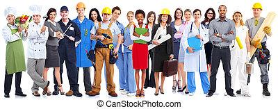 trabajadores, group., empresarios