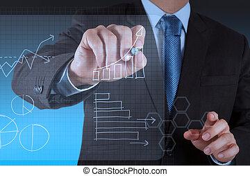 Trabajando en el negocio de la tecnología moderna